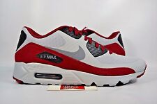NEW Nike Air Max 90 Ultra Essential WOLF DARK GREY RED MAROON 819474-012 sz 13