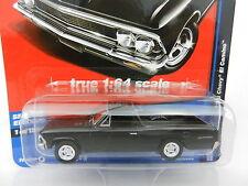 2017 AUTO WORLD 1:64 *DELUXE HOBBY EX* BLACK 1966 Chevrolet EL CAMINO *NIP*