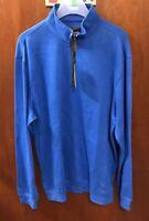 Greg Norman Golf Men's Pullover Blue Jacket Size Large   Natural Performance