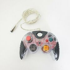 Game Cube Afterglow Pro Wired Clear Controller Wired Basic Controller Clear Red