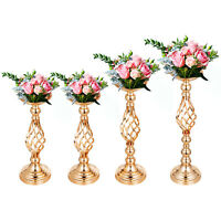 Flower Rack for Wedding Metal Candle Stand 4pcs Flower Stand Wedding Tabletop