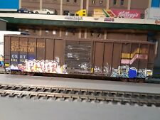 Ho Scale Roundhouse 50' Boxcar (Csx) Patched Seaboard Coastline. Custom Painted