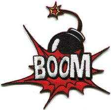 BOOM! cherry bomb M-80 comics retro embroidered applique iron-on patch S-1204