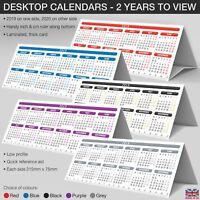 Desktop Calendar Planner StandUp Tent Card with ruler✔2 Year✔2019✔2020 LAMINATED