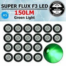 "20X Clear Green 3/4"" Side Marker & Clearance Light Trailer Truck Car Single LED"
