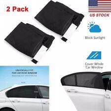 2 Pcs Car Side Window Sun Shade Adjustable Fit Visor Mesh Sunshade Auto SUV New