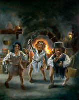 The Trouble with Trolls Fantasy Art Oil Painting by Jeff Ward