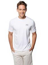 $99 Under Armour Men Stretch White T-Shirt Undershirt Crew-Neck Short-Sleeve M
