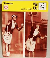 "Helen Wills 1978 Pro Tennis Sportscaster 6.25"" Card 44-09 Little Miss Poker Face"