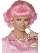 Short Pink Wavy Wig, Frenchy Wig, 1950's Fancy Dress Accessory #AU
