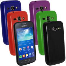 Brillante Tpu Gel Skin Funda Holder Para Samsung Galaxy Ace 3 s7275 Pantalla Prot