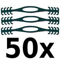 50x Ohrenschoner Maskenhalter passend für Mundschutz- und Behelfsmaske Schwarz