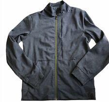LULULEMON Mens Full Zip Track Jacket size M Heathered Gray Gym Run Sports  EUC