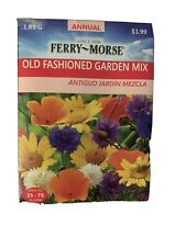 Ferry Morse Old Fashion Garden Mix Annual Flower Seeds 1.85 G Plant Pack