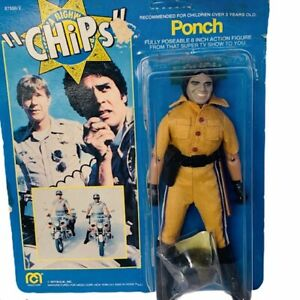 Ponch Mego Chips action figure toy 1977 vtg moc unpunched card cop patrol police