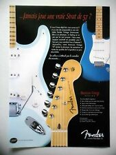 PUBLICITE-ADVERTISING :  Guitare FENDER American Vintage Series  04/2002 Strato