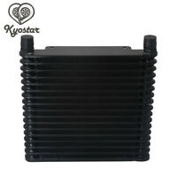 Universal Aluminum 17Row AN10 Engine Transmission Oil Cooler 10-AN Cooling Black