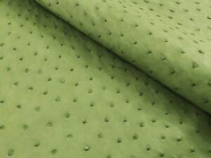 Ostrich Leather Hide Linden Green Color (%100 Natural Genuine Hide)