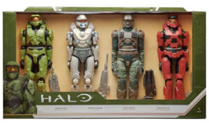 """HALO Action Figure 4 Pack 12"""" Inch Toy Figure Set with Accessories"""