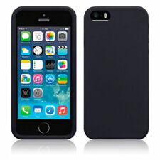 Fundas y carcasas Para iPhone 5 color principal negro de silicona/goma para teléfonos móviles y PDAs