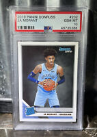 2019 Panini Donruss Rated Rookie JA MORANT PSA 10 Gem MINT RC Grizzlies #202