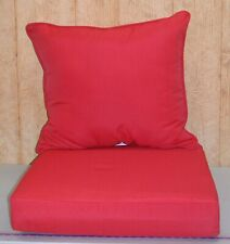 Outdoor Deep Seat Cushion Set ~ Ruby Red ~ 24x23x9 / 24x24x6 **NEW**