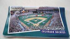 Colorado Rockies 1998 All-Star Season checkbook cover