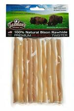 Tasmans Natural Pet 10 Small Twisters Bison Rawhide Dog Chew Bones 5""
