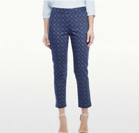 NYDJ Not Your Daughters Jeans Plus Sz 18W Blue Pattern Slim Ankle Pants NWT $134