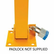 FOLD DOWN PARKING BARRIER SECURITY POST BOLLARD LOCKABLE