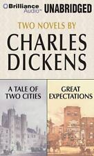 A Tale of Two Cities & Great Expectations by Charles Dickens (CD, Unabridged)New