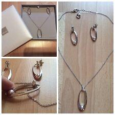Parure MISAKI Collier et Boucles d'oreilles Argent et Perles Neuve Authentique