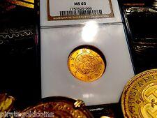 "JAPAN 5 YEN 1873 NGC 65 GEM! ""GOLD DRAGON"" 3rd Highest Graded!  VERY RARE! OSAKA"