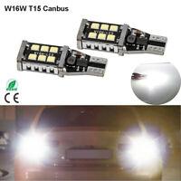 2x T15 W16W Canbus Rücklicht Rückfahrleuchte LED 6000K Xenon Weiß Rückfahrlicht