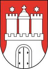 Aufkleber Hamburg Wappen Autoaufkleber Sticker Konturschnitt