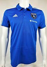 adidas MLS Men's San Jose Earthquakes Climalite 3-Stripe Polo, Royal Blue Large