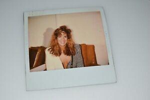 original vintage 1980's polaroid photo sexy  woman candid /g1