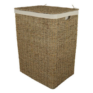 Seagrass Laundry Basket with Removable Cotton Liner