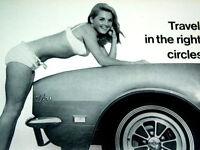 1968 CAMARO CRAGAR GT WHEEL ORIGINAL AD *RS/Z28/302/350/v8/steering/decal/yenko