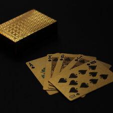 Spielkarten wasserfest Gold *Pokerkarten*Geschenk* Skat Casino Luxus Deluxe Deck
