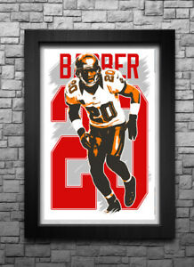 RONDE BARBER art print/poster TAMPA BAY BUCCANEERS FREE S&H! JERSEY