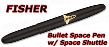 Fisher Matte Black Bullet Space Pen w/ Shuttle 600BSH