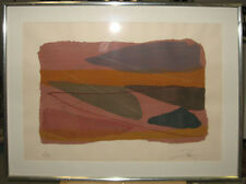 Larry Zox 1981 Abstract Pochoir New York Abstract Expressionist Color Field