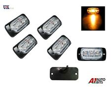 4x Amber  LED Car Truck Emergency Beacon Lights Hazard Flash Strobe Bar Warning