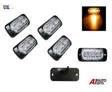 4x Ámbar LED de luces de baliza de emergencia coche camión Flash Estroboscópico Bar advertencia de peligro