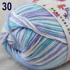 Sale New 1Ball x 50g Cashmere Silk Wool Hand Knit Wrap Shawls Crochet Yarn 30
