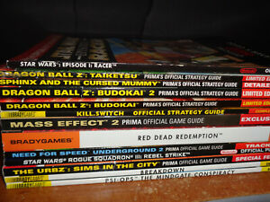 Lot 13 Video Game Strategy Guides Red Dead Redemption Mass Effect Dragonball Z