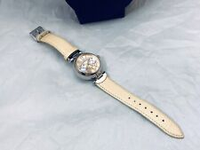 PRETTY ANNE KLEIN WATER RESISTANT SECONDS/DAY LEATHER ROSE GOLD TONE WATCH