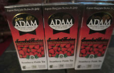 Adam Tea 3 pack Strawberry Black Ceylon with real fruit ICED tea EXP 12/2/18
