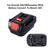 Li-Ion Tools Adapter For Dewalt 20V/Milwaukee M18 Battery Convert To Bosch 18V